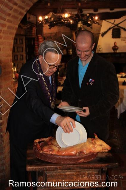 Visita a Segovia de Felix Ramos con el Príncipe Jorge Rurikovich