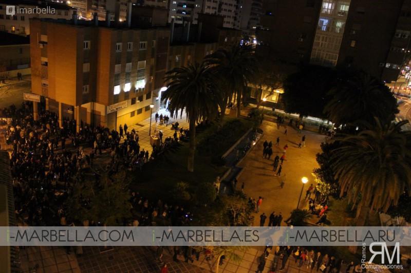 Traslado de la Expiración por las calles del Perchel en Málaga