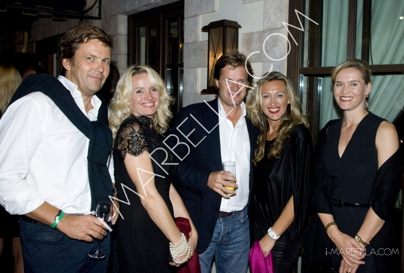 GALERÍA:James Hewitt recibe a los jugadores del Master de tenis en Polo House, Marbella