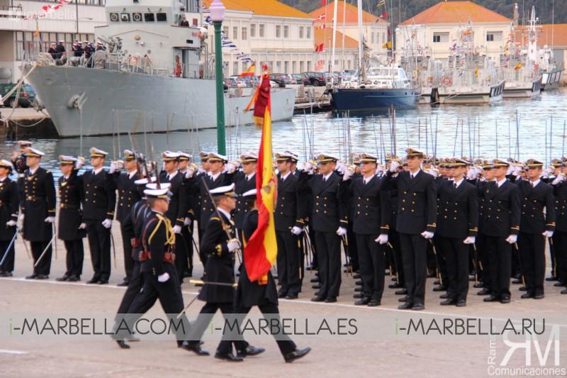 Jura de Bandera en la Escuela Naval Militar de Marín