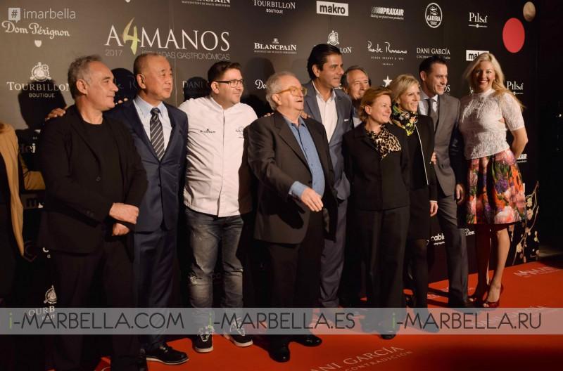 Cuarta edición de A4Manos, cóctel en Marbella, Marzo´17 GALERIA, VIDEO