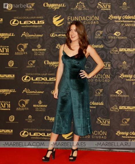 Alfombra roja Luxury Advertising Awards @ Palacio De Congresos De Marbella 15 de diciembre de 2017