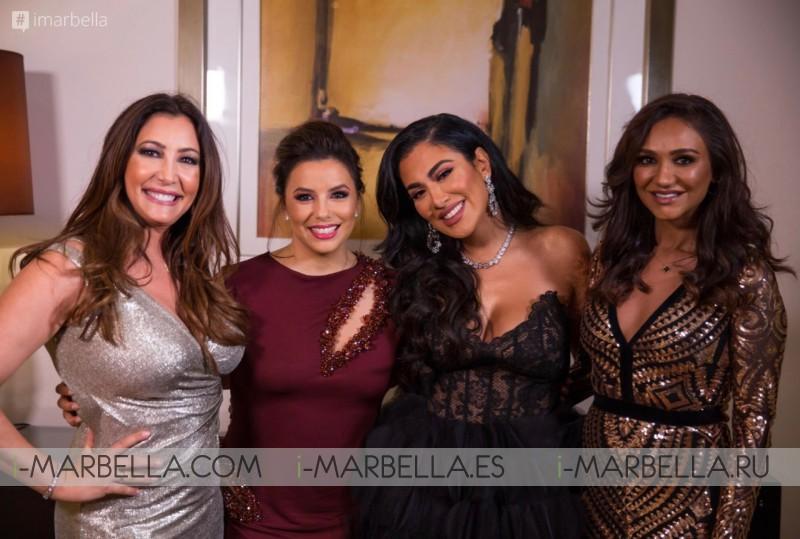 Global Gift Gala en Dubai con Maria Bravo, Eva Longoria Bastón, Deepak Chopra, Gary Dourdan y Huda Kattan Diciembre 2018