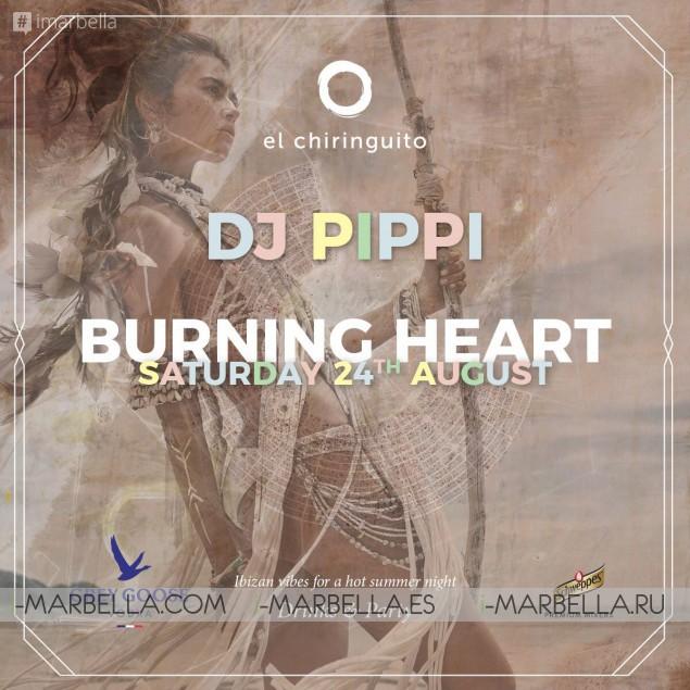Burning Man Party at El Chiringuito Marbella 24th of August 2019
