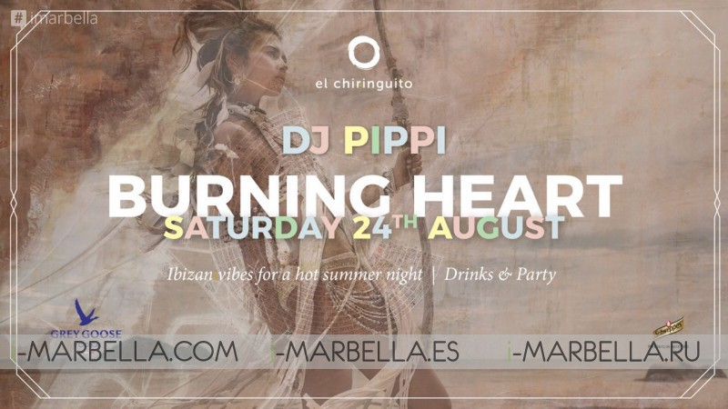 Burning Man Party at El Chiringuito Marbella 24th of August 2019
