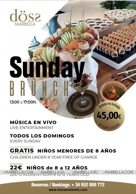 Sunday Brunch con Música en vivo Döss Marbella 2019