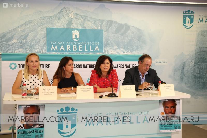 JOHAN ERNST NILSON trae A MARBELLA TOWARDS NATURE un evento  en benéfico del  medio ambiente14 y 15 de octubre, 2019