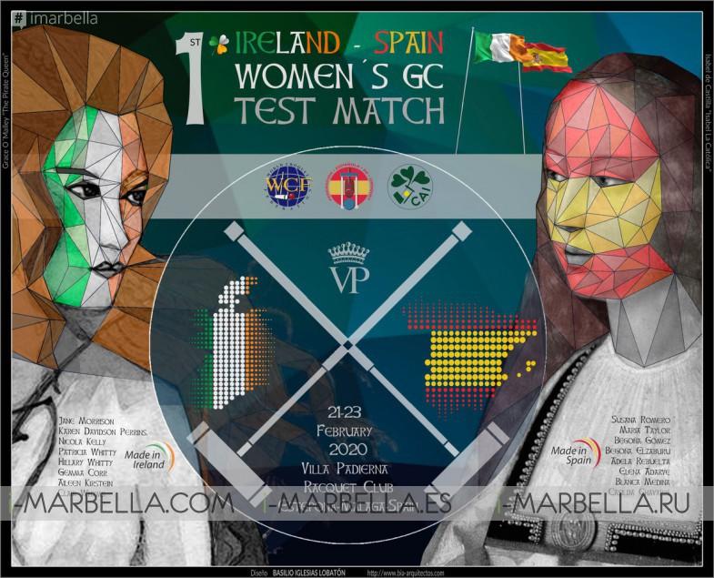 I Bilateral Femenino Irlanda-España de Croquet @ Marbella 2020